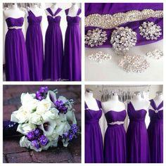 Multiway dress in royal purple