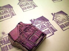 House Stamp by amelia herbertson, via Flickr. Wow