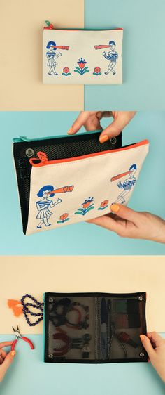 Fall in love with this adorable, foldable, double mesh pouch!! It's fun, quirky, and just what you need. ^.~*