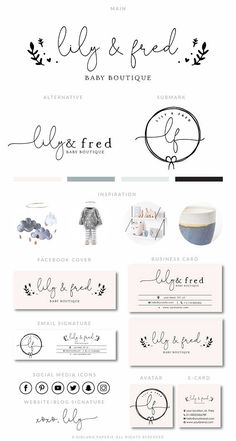 Baby Boutique Branding Kit Photography Logo Premade
