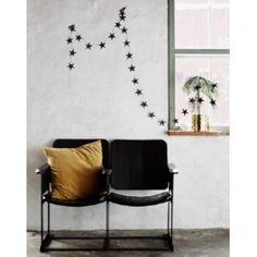 Guirlande Etoiles noires en papier - Le Repère des Belettes