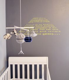 Star Wars Themed Baby Nursery. This (almost) makes me want something to put in a nursery. But mostly just the nursery.