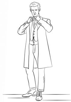 Free and printable 17 page Doctor Who coloring and