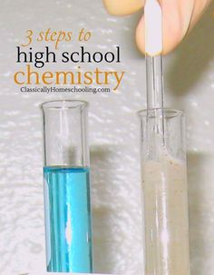 High school chemistry projects home