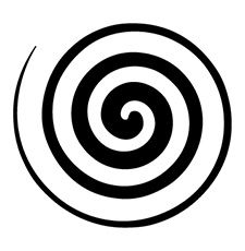 "Single Spiral ""A spiral, thus represents the processes of both, creation and self-realization."""