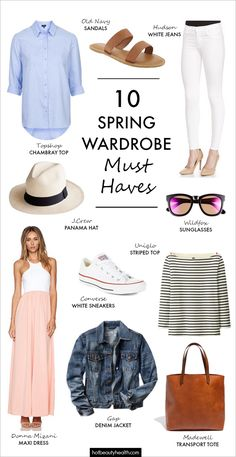 Spring Fashion: Spring is in the air and it's time for a wardrobe overhaul! See my handy guide of all the basic essentials!