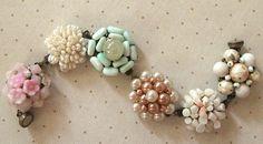 Vintage Cluster Earring Bracelet