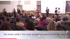 """Yes, Senator Richard Pan - the """"mandatory vaccine"""" guy who spearheaded Cali's SB277 to make vaccines compulsory for students - is assuring audience members.  What a scumbag."""