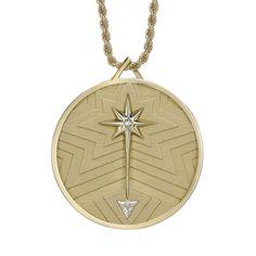 Lucky Coin Pendant Back yellow Gold Diamonds Unusual Jewelry, Simple Jewelry, High Jewelry, Cute Jewelry, Coin Pendant, Star Pendant, Pendant Jewelry, Arabic Jewelry, Disney Necklace