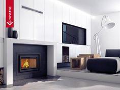 Fireplace BASIA 15 kW #kratkipl #kratki #fireplace #insert #interior #livingroom