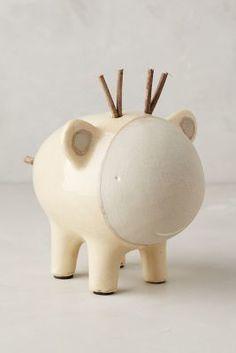 Godeleine de Rosamel Ceramic Critter Piggy Bank