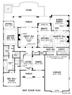 Nice first floor layout! Second floor would need library, craft room, exercise room, playroom, and four bedrooms.