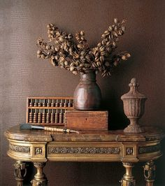 Looking for some brown leather wallpaper for above the mantle insets....who knew it would be so hard!!