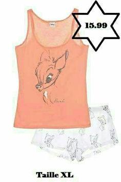 Pyjama été femmes Disney Bambi neuf et certifié