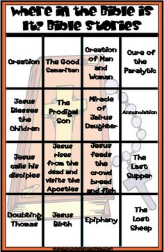 Where in the Bible Is It? Bible Teachings and Bible Stories Bingo Games