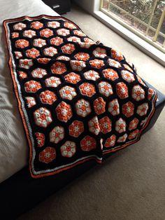 African flower blanket for Caroline