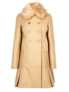 85780b38e733 Oasis Fur collar drop waist coat NEUTRAL - House of Fraser Waist Coat, Drop  Waist