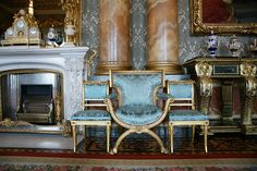 The Blue Drawing Room.Before the Ballroom was added to the Palace in the 1850s, the first  State Ball was held in the Blue Drawing Room in May 1838 as part of  the celebrations leading up to Queen Victoria's Coronation.