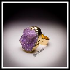 "Genuine Druzy Amethyst Statement Ring Boho ❗️❤️GIFT BOXED❤️❗️ New With Tags Attached Gorgeous Genuine Druzy Statement Cocktail Ring Boho * Plated brass setting; Adjustable, fits sizes 6-9  * 1"" L X 0.75"" W ring face * Nickel & lead free; Hammered band.   * A natural genuine Druzy stone makes each ring unique & vary slightly in color, size, shape & texture.  No Trades ✅ Offers Considered*/Bundle Discounts✅ *Please use the 'offer' button to submit an offer. Jewelry Rings"