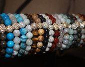Caramel Magnesite Semi Precious Bracelets