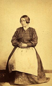 Métis women in dress; they were fashioned after European designs. Most were made of cotton, wool or velvet.