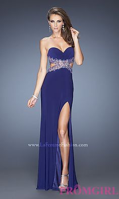 Long Prom Dress with Open Back by La Femme at PromGirl.com