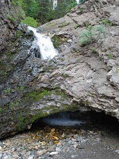 Donut Falls in Big Cottonwood Canyon, Utah