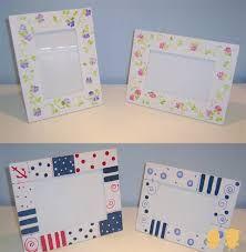 Resultado de imagen para portaretratos originales Baby Picture Frames, Country Art, Baby Art, Fused Glass, Ideas Para, Decoupage, Baby Pictures, Baby Shower, Crafts