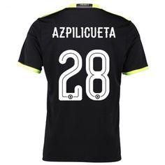Chelsea 16-17 Cesar #Azpilicueta 28 Udebanesæt Kort ærmer,208,58KR,shirtshopservice@gmail.com