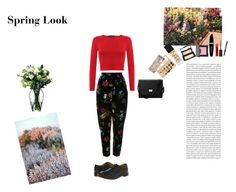 """Spring Look"" by silly-stegosaurus ❤ liked on Polyvore featuring Kenzo, NARS Cosmetics, Laura Mercier, Max Factor, Dr. Martens, Aspinal of London, Maybelline, Oris and LSA International"