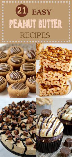 21 Easy Peanut Butter Recipes