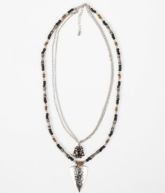 BKE Chain & Bead Necklace $3.50