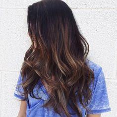 Cut ➵ Color #aveda #avedacolor #randco #hairbrained #modernsalon #americansalon #btcpics #balayage #colormelt #longhair #hairstyles