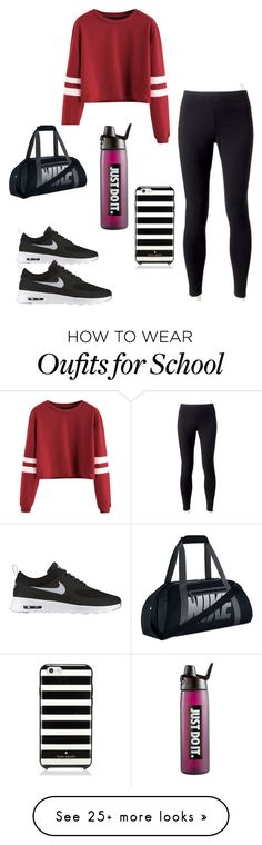 """P.E clothes for school"" by purplelover13 on Polyvore featuring Jockey, NIKE and Kate Spade"