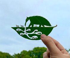 Amazing leaf art...