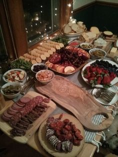 The spread from my Charcuterie and Champagne birthday party.
