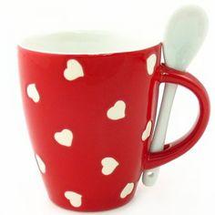 Artbox Hearts Mug with Spoon