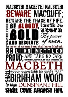Macbeth Poster - this Etsy shop has a ton of awesome literary posters Macbeth William Shakespeare, Shakespeare Plays, Shakespeare Quotes, Shakespeare Festival, British Literature, English Literature, Gcse English, Teaching Literature, Literature Quotes