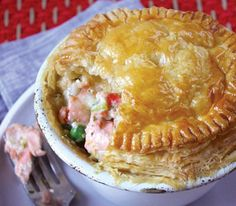 Delicious and easy - a fish pie anyone can make. You'll learn how to poach fish and make a white sauce too. Made with Carême All Butter Puff Pastry.