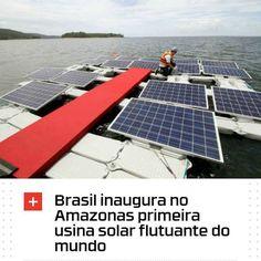 """""""Localizada na Hidrelétrica de Balbina em Presidente Figueiredo no estado do Amazonas a usina possui placas fotovoltaicas flutuantes que irão gerar no início um megawatt (MW) de energia. Porém a partir de outubro de 2017 a potência deve aumentar para cinco MW quantidade suficiente para produzir eletricidade para 9 mil casas."""" """"A engenharia da usina solar flutuante amazonense é utilizada nos lagos da Hidrelétrica de Balbina possibilitando o aproveitamento de sub-estações e de linhas de…"""