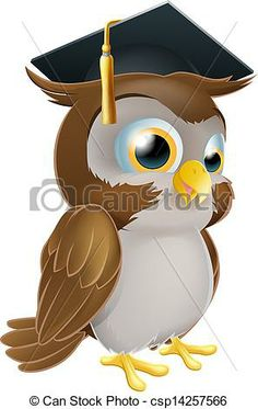 An Illustration Of A Cute Standing Cartoon Owl Character Stock Vector
