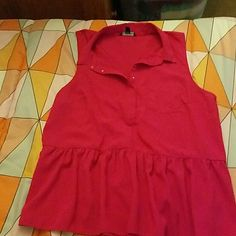 Silky like top Fushia colored cute top American Eagle Outfitters Tops Blouses