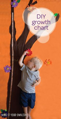 Each inch that your little one grows is a big deal for you and your toddler. Keep track of his growth with this DIY growth chart. He'll be so excited to reach the top of the tree and tracking his height is sure to become a great parent-to-child bonding experience. Translate that same excitement over growth and big changes to your potty training journey together with Pull-Ups®!