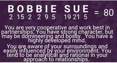 Lucky number Bobbie Sue