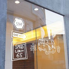 Roadtrip Wall Decal White, $28, by Perfect Sunday !!