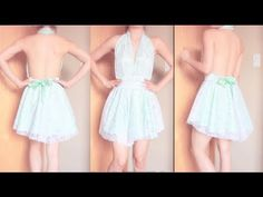 DIY Backless Dress #DIY #Sewing #Sew -- not the best construction technique, but I love the idea :)