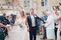 Notley Abbey provides the perfect backdrop for your wedding photos, including this stunning confetti shot! Country House Wedding Venues, Celebrity Weddings, Pastels, Confetti, Backdrops, Wedding Photos, How To Memorize Things, Wedding Photography, Wedding Dresses
