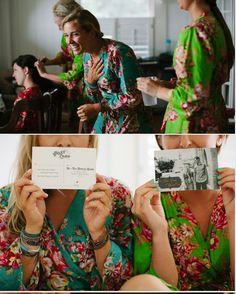 Set of 4 Bridesmaids robes Kimono Crossover Robes by silkandmore, $140.00