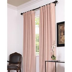 For Enhancing The Elegance Of Your Chosen Living Space These Rose Velvet Curtain Panels Offer