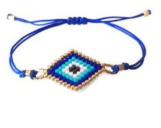 Lace Bracelet, Evil Eye Bracelet, Beaded Bracelets, Creative Gifts For Boyfriend, Boyfriend Gifts, Bracelet Patterns, Beading Patterns, Miyuki Beads, Technology Gifts
